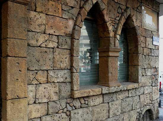 rivestimento in pietra stampata, muro stampato, parete in pietra ...