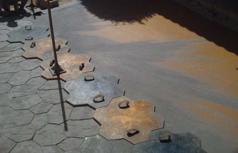 resina per pavimenti in cemento stampato