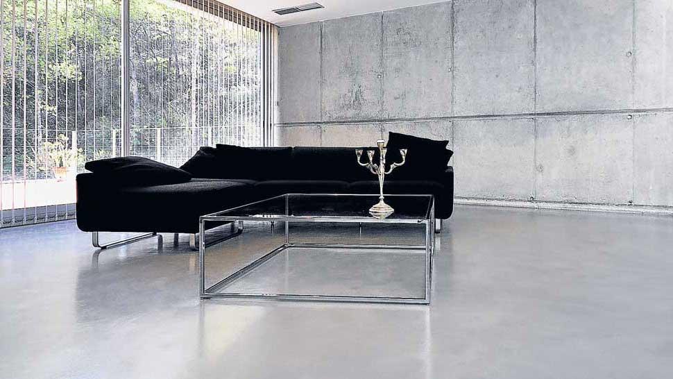 With pavimento grigio chiaro - Colore divano pavimento cotto ...