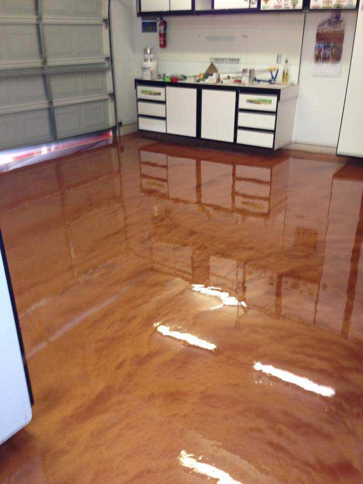 Resina idee pavimento : pavimento in resina garage color cotto lucido cucina zona giorno