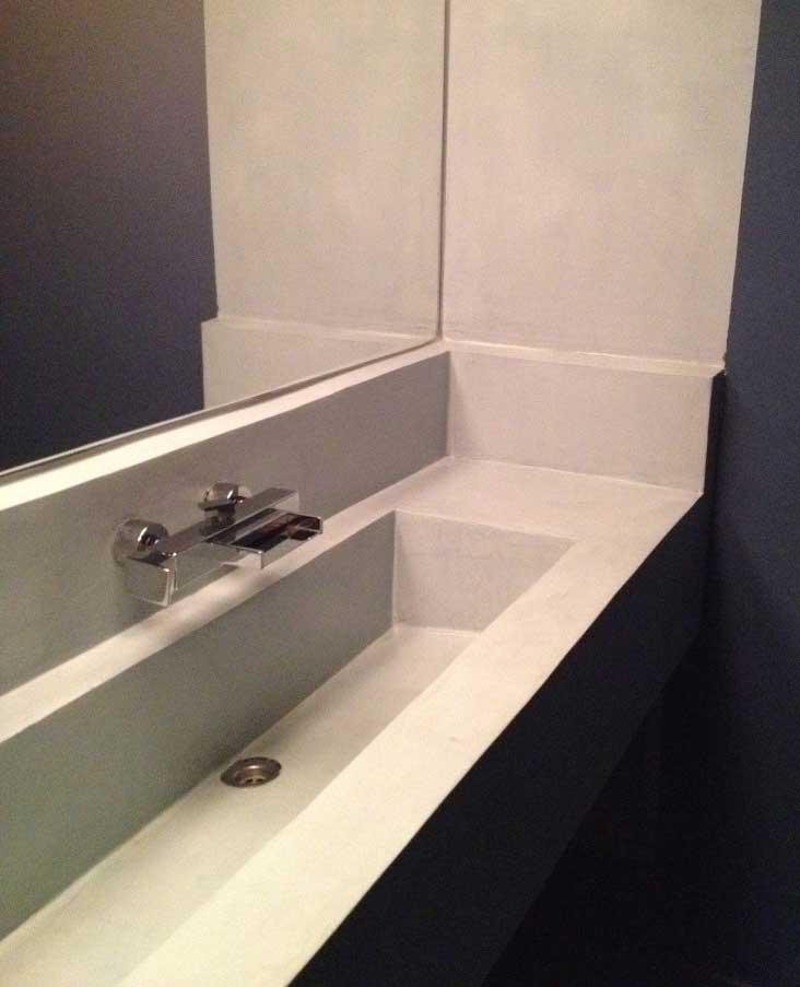 lavabo in microcemento per bagno bagno con lavabo integrato in