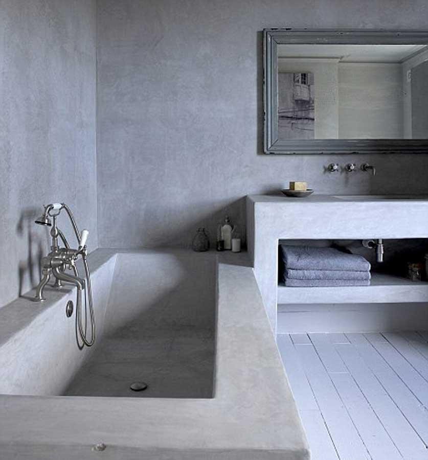 pavimento-grigio-chiaro-zona-giorno-microcemento-resina ...
