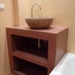 microcemento per lavabo e mobile bagno
