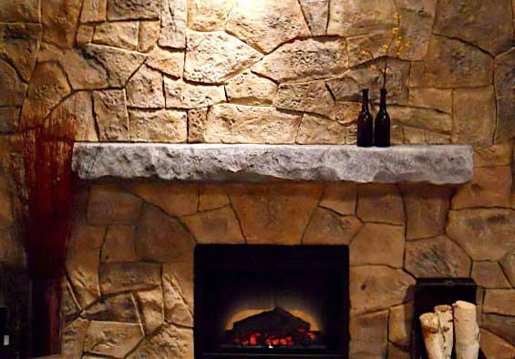 acamini in pietra camino : camino in pietra artificiale ricostruita