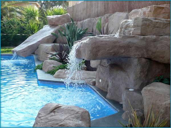 Foto roccia artificiale pavimento moderno - Rocce da giardino ...