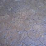 porfido in cemento stampato grigio