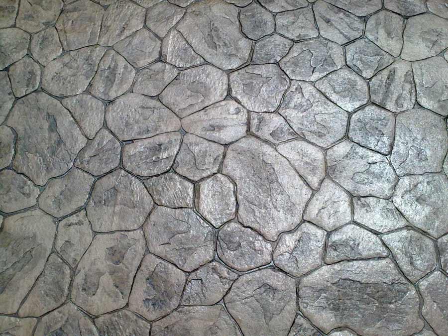 Parete Mattoncini Grigi : Cemento stampato porfido grigio pavimento ...