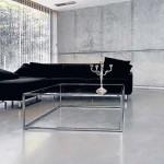 loft minimalista con pavimento in microcemento