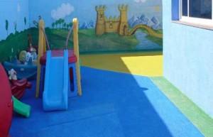 pavimento in gomma antitrauma per bambini