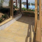cemento colorato pavimento esterno
