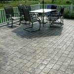 cemento stampato per pavimento zona pic nic