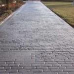 cemento stampato effetto pietra grigia
