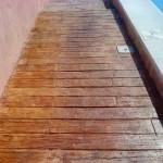 pavimento stampato effetto legno