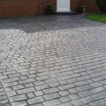 effetto pietra pavimento stampato grigio