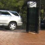 pavimento cemento stampato cancello