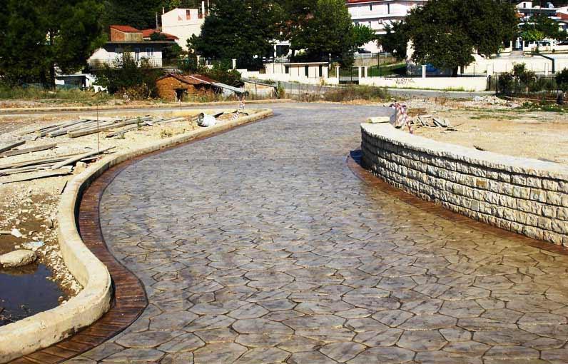Foto cemento stampato pavimento moderno - Pavimentazione esterna casa di campagna ...