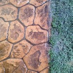 pavimento in cemento stampato porfido