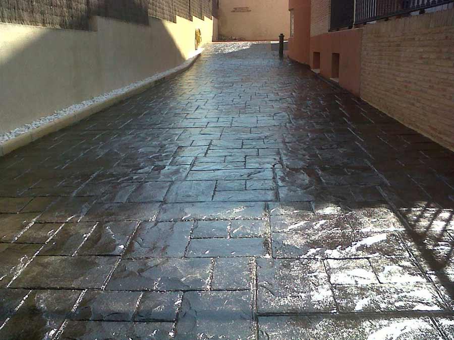 Foto cemento stampato pavimento moderno - Gradini in cemento per esterno ...