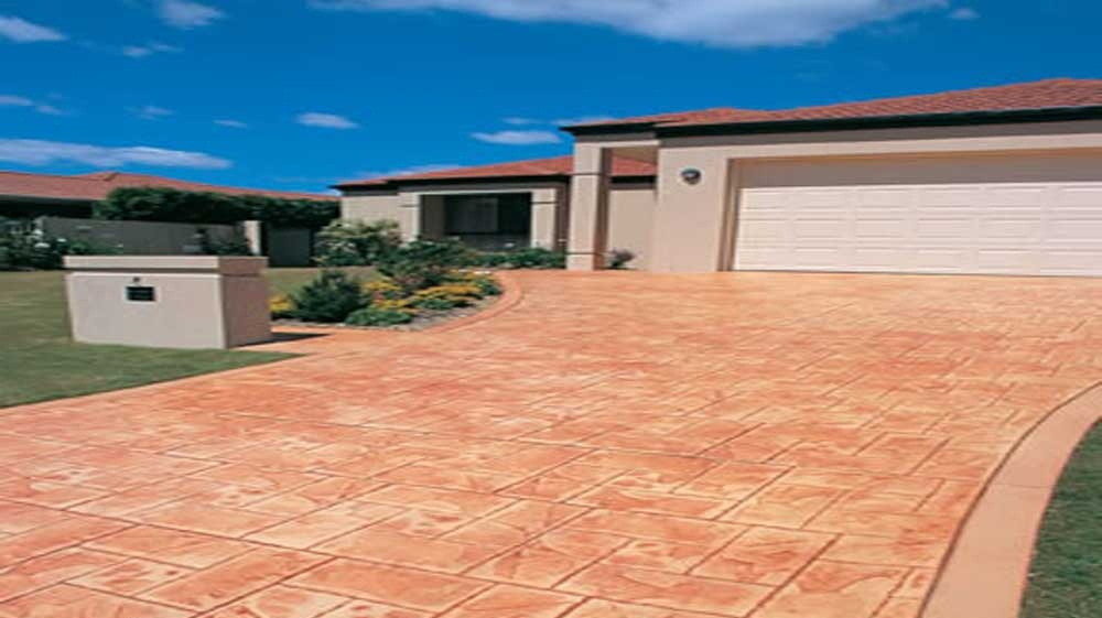 Foto cemento stampato pavimento moderno - Pavimento da esterno carrabile ...