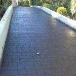 pavimento in cemento stampato grigio piombo