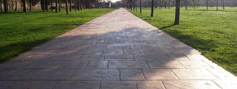 Foto cemento stampato pavimento moderno - Viali da giardino ...