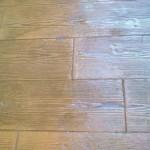effetto legno cemento stampato