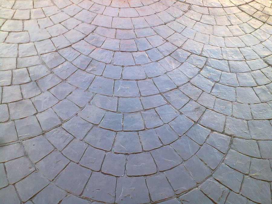 Pavimento Esterno Grigio : Pavimento esterno sampietrino grigio cemento stampato pavimento