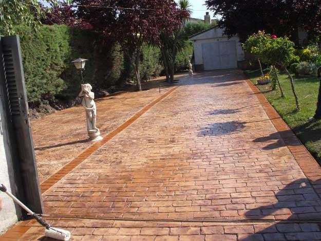Foto cemento stampato pavimento moderno - Pavimento per giardino ...