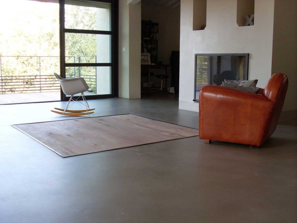 Pavimenti classici per interni - Bagno cemento spatolato ...