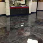 pavimento in resina effetto marmo