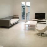 pavimento bianco in microcemento