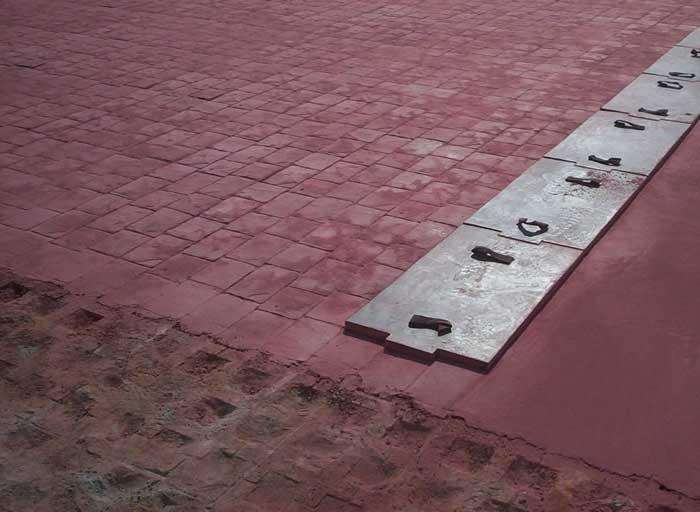 Pavimento Calcestruzzo Stampato : Cemento stampato per pavimento esterno resistente