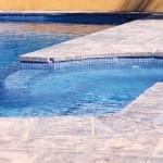 cemento stampato bordo piscina