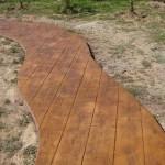legno in cemento stampato