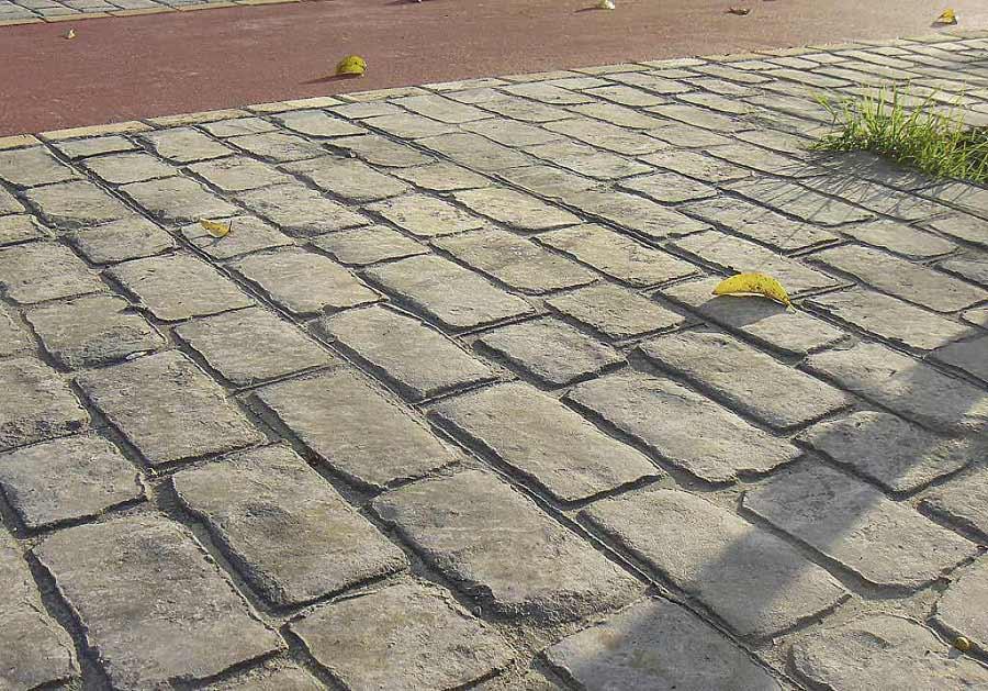 Cemento stampato per pavimento esterno resistente - Piastrelle di cemento da esterno ...