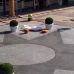 piazzale in cemento stampato ad alta resistenza