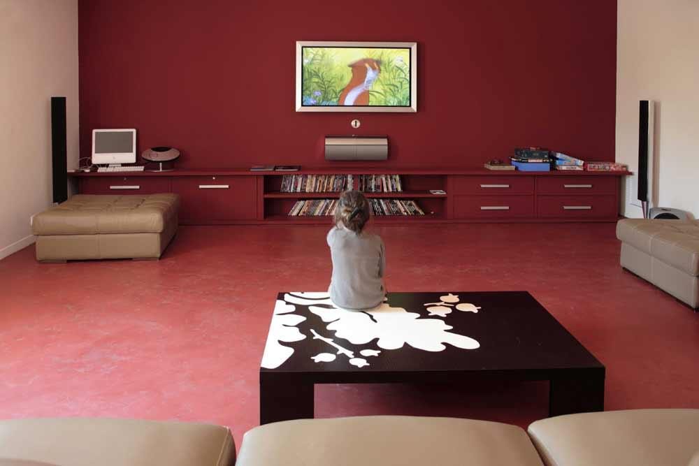 Pavimento Rosso E Bianco : Pavimento zona giorno salotto colore particolare spatolato a mano