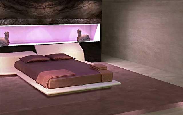 Bagno in microcemento resina pavimento rivestimento spatolato lavabo su progetto misura grigio - Pavimento camera da letto ...