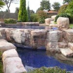 roccia artificiale piscina laghetto