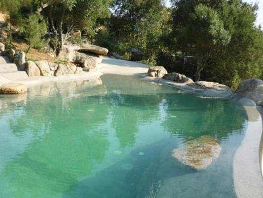 Laghetto Artificiale : Immagini piscina effetto spiaggia naturale e in roccia