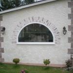 finestra ad arco per esterno in pietra stampata