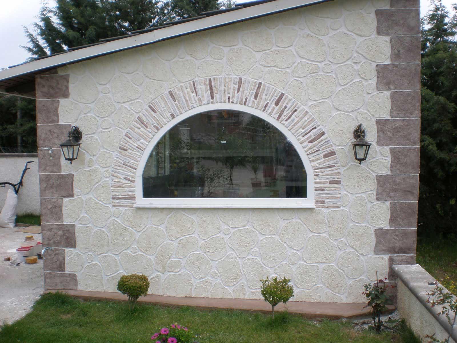 Immagini rivestimento pietra stampata e pietra ricostruita - Mattoncini per esterno ...