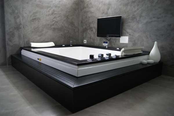... parete-spalliera-letto-pavimenti-moderni-grigio-fumo-piombo