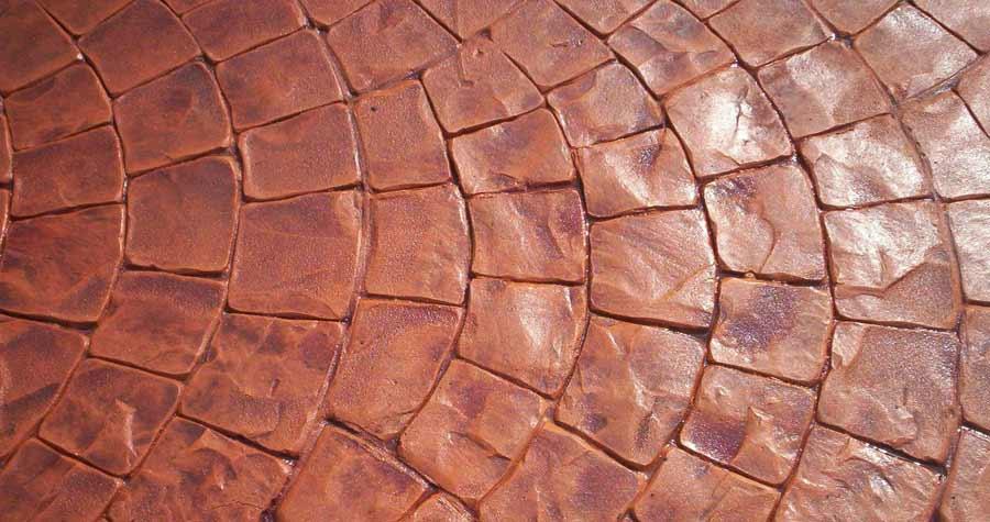 Calcestruzzo Stampato Per Esterni : Cemento stampato per pavimento esterno resistente