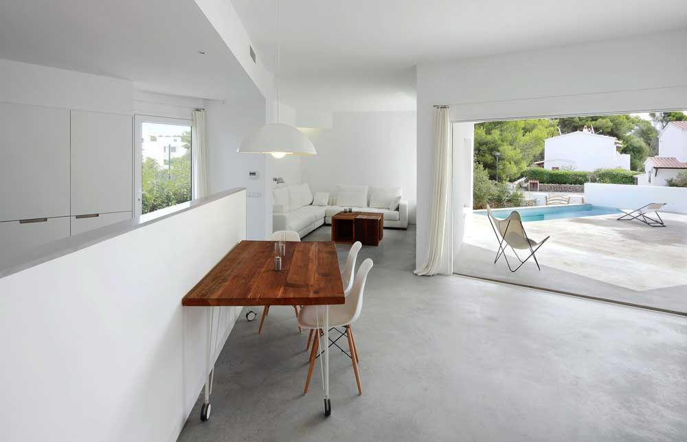 Pavimento in cemento interno grigio living   pavimento moderno