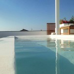 piscina su terrazzo rivestimento impermeabilizzante elegante