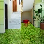 pavimenti in resina decorativa con effetto prato