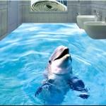 pavimenti in resina 3d con delfino