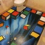 pavimenti in resina 3d effetto cubo di rubik
