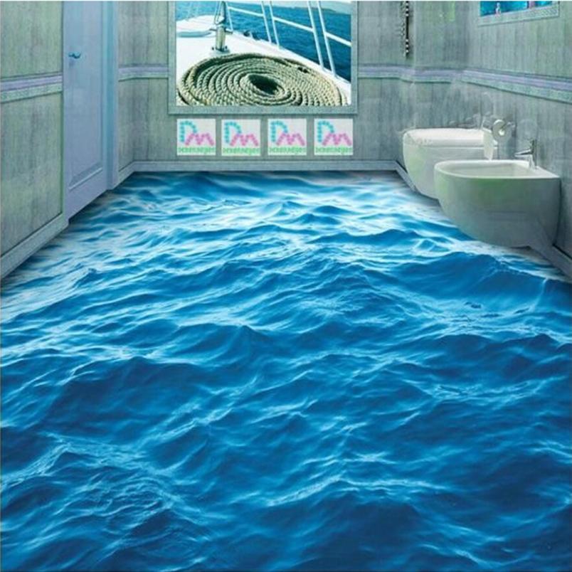 Pavimenti in resina 3d effetto mare bagno   pavimento moderno